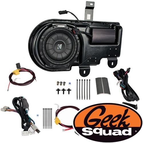 Kicker Digital Amplifier, Subwoofer, Enclosure & Geek Squad® Installation for Select 2009-2010 Ford F-150 Trucks