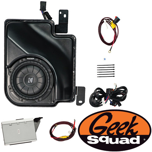 Kicker Digital Amplifier, Subwoofer, Enclosure & Geek Squad® Installation for Select 2007-2013 Chevy & GMC Trucks