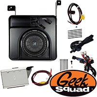 Kicker Digital Amplifier, Subwoofer, Enclosure & Geek Squad® Installation for Select 2007-2014 Chevy & GMC Trucks