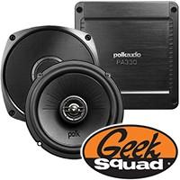 Polk Audio 6-1/2'' Speakers, 2-Channel MOFSET Deck & Geek Squad® Installation