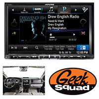 "Alpine 8"" iPhone®-Ready GPS/CD/DVD Deck with HD Radio for 2007-2013 Toyota Vehicles & Geek Squad® Installation"