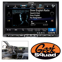 "Alpine 8"" iPhone®-Ready GPS/CD/DVD Deck with HD Radio for 2012 Toyota Tacoma & Geek Squad® Installation"
