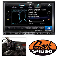 "Alpine 8"" iPhone®-Ready GPS/CD/DVD Deck with HD Radio for GM/Chevrolet Vehicles & Geek Squad® Installation"