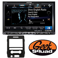 "Alpine 8"" iPhone®-Ready GPS/CD/DVD Deck with HD Radio for 2007-Present Ford Vehicles & Geek Squad® Installatio"