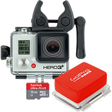 GoPro Hunt/Fish Accessory Package with Sportsman Mount, Floaty Backdoor & 16GB Memory Card