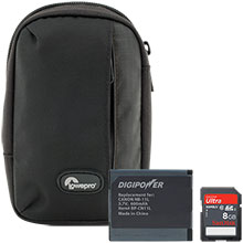 Accessory Package for Canon PowerShot Elph-340 Camera with Bag, Battery & 8GB Memory Card