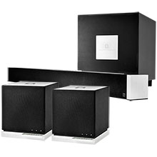 "Definitive Technology Package with 6-Channel Soundbar System & W7 4"" 90W 3-Way Wireless Speakers (2)"