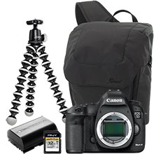 Canon EOS 5D Mark III 22.3MP DSLR Camera (Body Only), Joby Gorillapod Tripod, Case, Battery & 32GB Memory Card