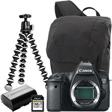 Canon EOS 6D 20.2MP DSLR Camera (Body Only), Joby Gorillapod Tripod, Case, Battery & 32GB Memory Card