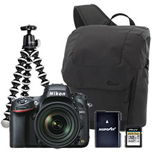 Nikon D610 24.3MP Digital SLR Camera with 24-85mm VR Lens, Gorillapod Tripod, Sling Bag, Battery & 32GB Memory Card