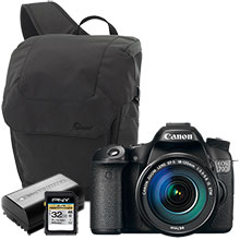 Canon EOS 70D 20.2MP DSLR Camera with 18-135mm Lens, Sling Bag, Battery & 32GB Memory Card