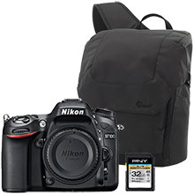 Nikon D7100 20.2MP DSLR Camera (Body Only), Sling Bag & 32GB Memory Card