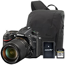 Nikon D7100 24.1MP DSLR Camera with 18-140mm Lens, Sling Bag, Battery & 32GB Memory Card