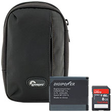 Accessory Package for Canon PowerShot ELPH-150 Camera with Bag, Battery & 8GB Memory Card