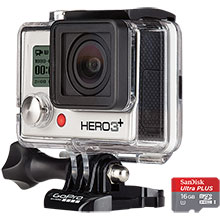 GoPro Hero3+ Silver Edition Camera & Free 16GB Memory Card