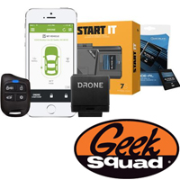 DroneMobile Smartphone Remote Start System with Bypass and Geek Squad® Installation