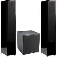 "MartinLogan Pair of Motion 40 6½"" Floor Speakers & Free Dynamo 500 10"" Powered Subwoofer Package"
