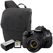 Canon EOS 60D 18.0MP DSLR Camera with 18-135mm Lens, Bag, Battery & 32GB Memory Card