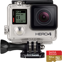 GoPro HERO4 Silver Action Camera & Free 32GB Memory Card