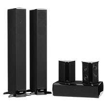 """Definitive Technology Package with a Center Channel, 3½"""" Floorstanding (2) & Surround (2) Speakers"""