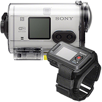 Sony AS100 HD Action Cam - White & Sony Live View Remote