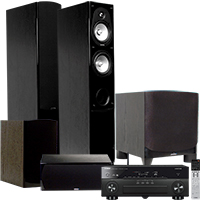 """Yamaha 7.2-Channel Receiver, Energy Speakers & 10"""" Subwoofer Package"""