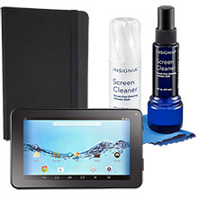 "DigiLand 7"" Tablet, Case & Screen Cleaner Package"