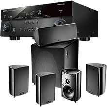 Definitive Technology ProCinema 600 5.1 Channel Speaker System & Yamaha 7.2-Channel Receiver Package