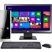 "HP Pavilion Slimline 400-434 Desktop & 20"" LED Monitor Package"