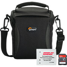 Accessory Package for Canon PowerShot SX520 Camera with Bag, Battery & 8GB Memory Card