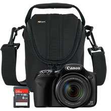 Canon PowerShot SX520 HS 16.0MP Camera, Free 8GB Memory Card & Free Bag