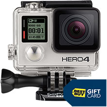 GoPro HERO4 Silver Action Camera with $50 Best Buy Gift Card