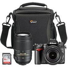 Nikon D7000 DSLR Camera with 18-140mm Lens, Extra 55-300mm Lens, Bag & 32GB Memory Card