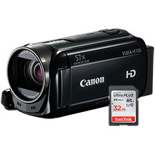Canon VIXIA HF R50 8GB HD Flash Memory Camcorder & Free 32GB Memory Card