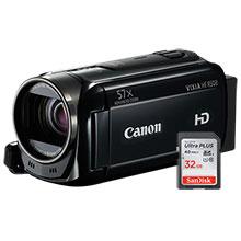 Canon VIXIA HF R500 HD Flash Memory Camcorder & 32GB Memory Card