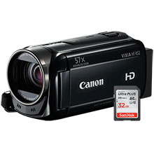 Canon VIXIA HF R52 32GB HD Flash Memory Camcorder & Free 32GB Memory Card
