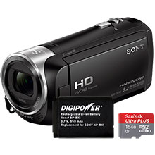 Sony HDR-CX240 HD Flash Memory Camcorder, Battery & Free 16GB Memory Card