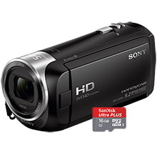 Sony HDR-CX240 HD Flash Memory Camcorder & Free 16GB Memory Card
