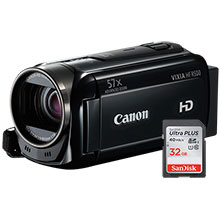 Canon VIXIA HF R500 HD Flash Memory Camcorder & Free 32GB Memory Card