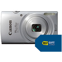 Canon PowerShot ELPH-135 16.0MP Camera - Silver & Free $10 Best Buy Gift Card