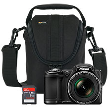 Nikon Coolpix L830 16.0MP Camera - Black, Free 8GB Memory Card & Free Bag