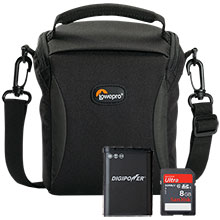 Accessory Package for Nikon Coolpix P600 Camera with Bag, Battery & 8GB Memory Card
