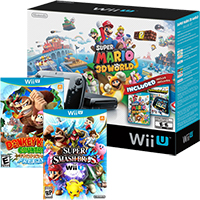 Wii U with Mario 3D World, Super Smash, Tropical Freeze & Nintendo Land