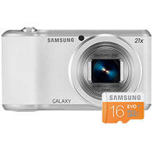 Samsung Galaxy 2 16.3MP Camera - White & 16GB Memory Card