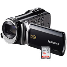 Samsung F90BN HD Flash Memory Camcorder & 16GB Memory Card