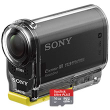 Sony AS20 HD Action Cam & Free 16GB Memory Card
