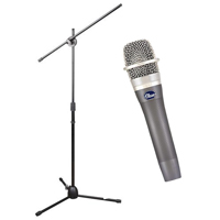 Blue Microphones enCORE 100 Dynamic Vocal Microphone & Hamilton Stands StagePro Boom/Tripod Microphone Stand Package