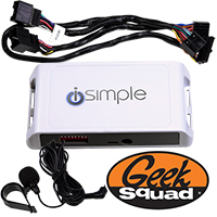 iSimple Car Connect Bluetooth Hands-Free Calling Kit for Select GM Vehicles & Geek Squad® Installation