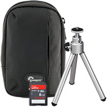 """Accessory Package for Sony DSC-W800 Camera with Bag, 5.5"""" Mini Tripod & 8GB Memory Card"""