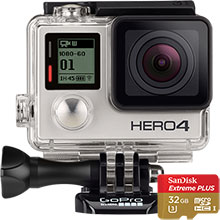GoPro HERO4 Silver Action Camera & 32GB Memory Card